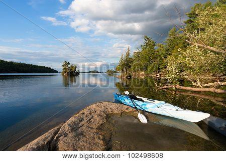 Kayak On Northern Lake