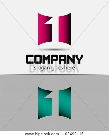 Number 1 logo. Vector logotype design