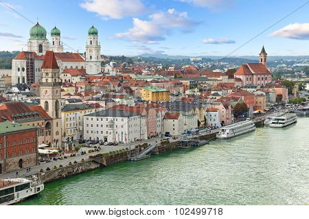 Aerial View Of Passau, Germany
