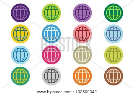 Globe Earth logo. Globe icon. Globe vector. Globe illustration. Globe silhouette. Abstract globe. Colored globe. Globe icons set. Orbit globe. Star globe. Globe earth icon and earth. Globe technology
