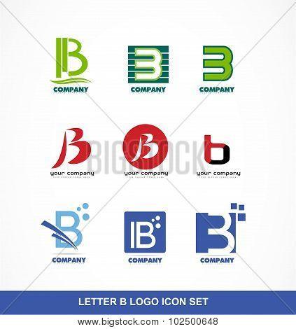 Letter B Icon Logo Set
