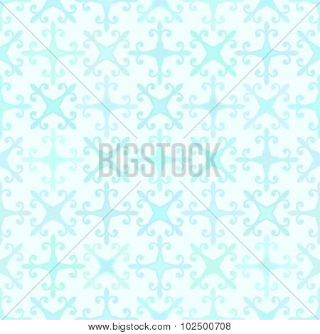 Abstract vector background Seamless arabic texture Aquamarine colors
