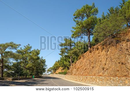 Road in the Troodos Mountains