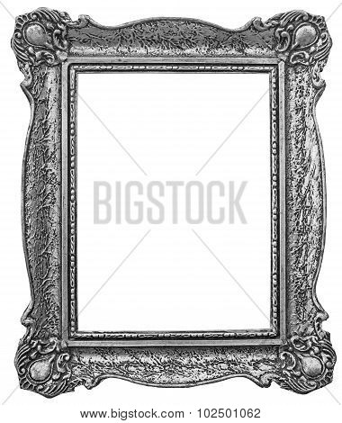 Old Wooden Silver Plated Frame