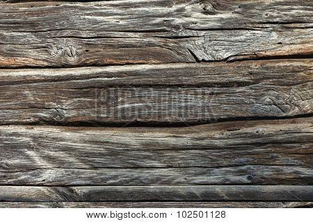 Weathered natural wooden texture background - more than 100 years old