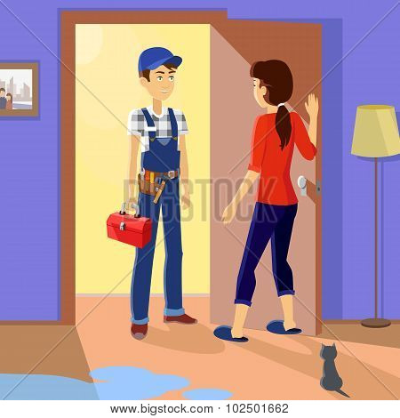 Housewife Meets Master Repairman
