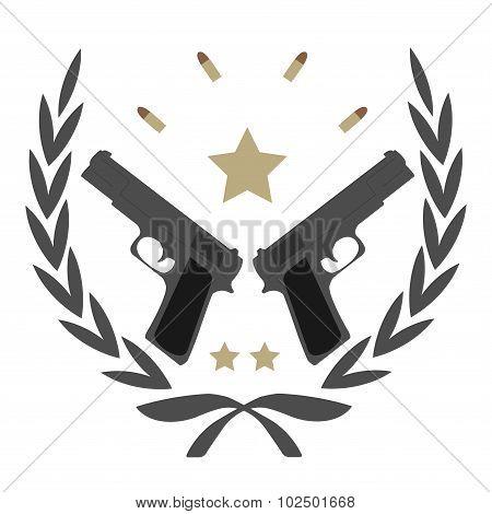 Vintage pistol emblem