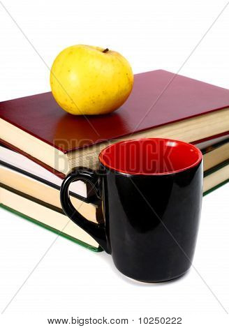 Books Are An Apple And Cup