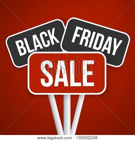Black Friday Sale Vector Sign. November Sale Black Friday Season
