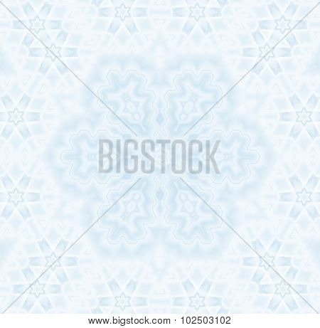 Seamless pattern abstract snowflake