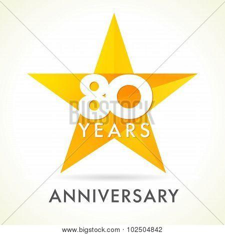 80 anniversary star logo