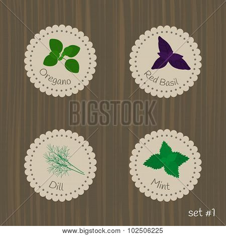 Culinary Herbs Labels.