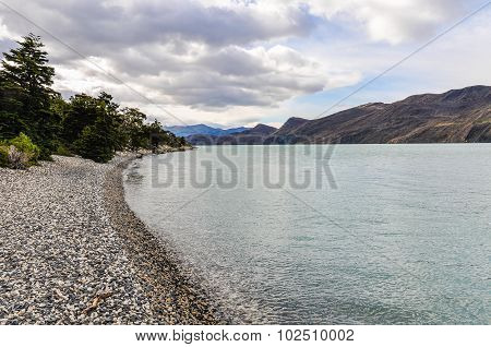 Lake Shore, Torres Del Paine National Park, Chile