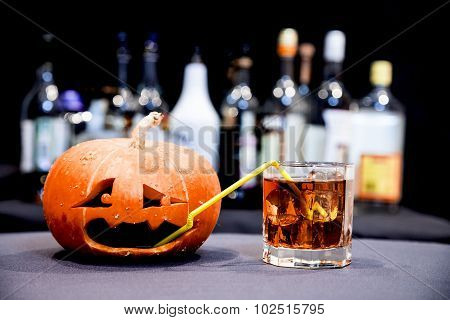 Jack O' Lantern on the Halloween party