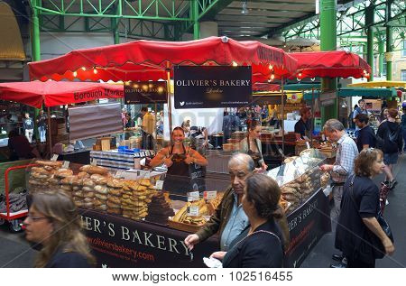 Bakery Stall in Borough Market - London