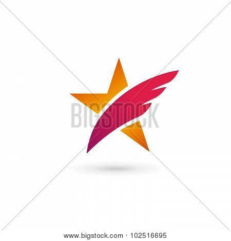 Abstract Star Wing Logo Icon Design Template Elements
