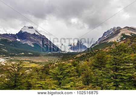Glacier From Far, Cerro Torre, El Chalten, Argentina