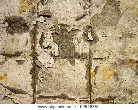 Texture Of The Old Destroyed Concrete