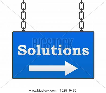 Solutions Blue Signboard