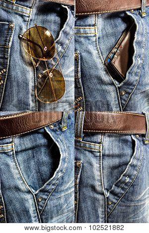 Blue Jeans Trouser Set