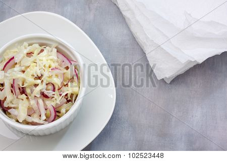 Cabbage And Red Onion Salad