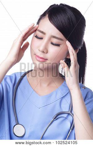 Unhappy Upset Woman Surgeon