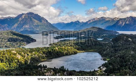 View Of The Lakes, Bariloche, Argentina