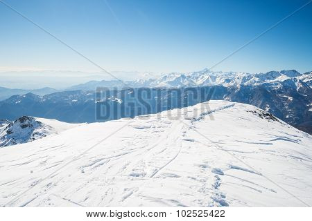 Snowcapped Mountain Summit