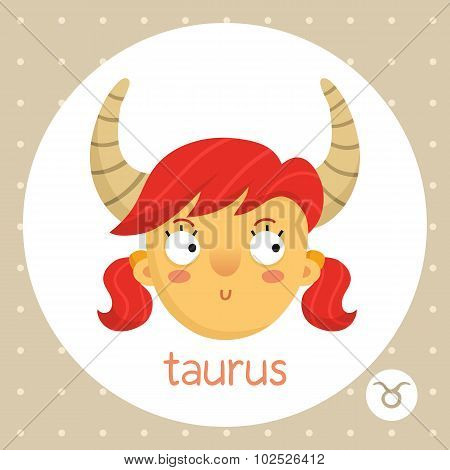 Taurus Zodiac Sign, Girl With Horns