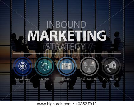 Inbound Marketingn Marketing Strategy Commerce Online Concept