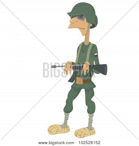 Cartoon Of Russian Soldiers