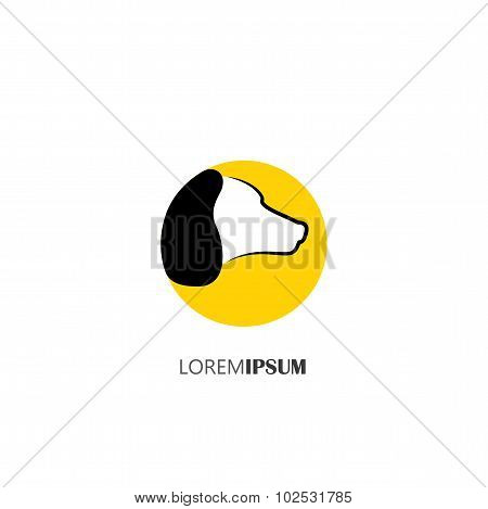 Vector Icon Of Profile Of A Dogs Face As A Logo