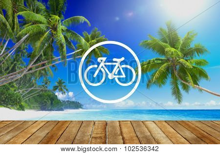 Bicycle Riding Bike Transportation Icon Concept