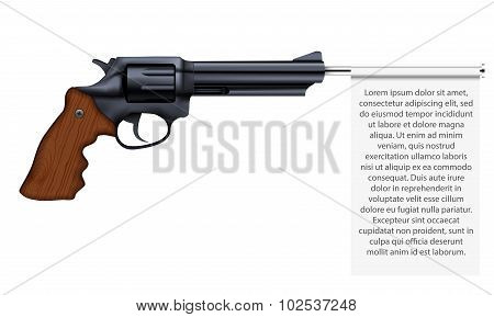 Big Revolver with empty flag