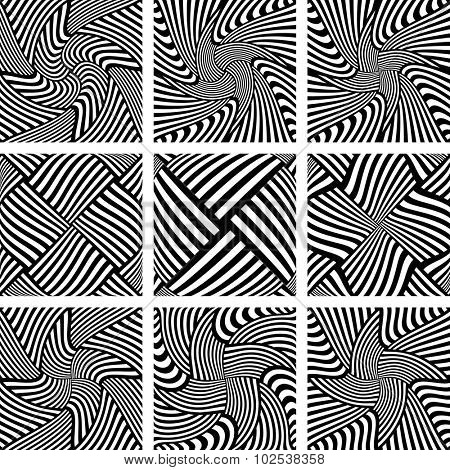 Design elements set. Abstract patterns. Vector art.