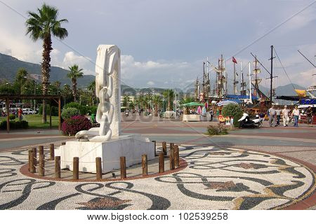 Quay In Alanya In The Summer