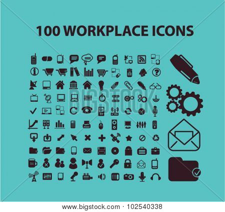 100 workplace icons