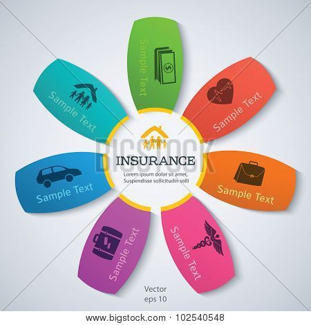 Info-flower-pattern-presentation-insurance-services