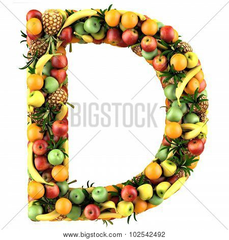 Letter of fruits