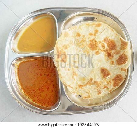 Malaysian breakfast called Roti Canai