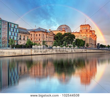 Reichstag With Rainbow, Berlin