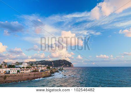 Coastal Landscape Of Forio, Town On Ischia Island