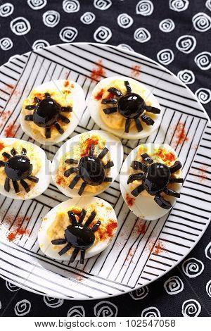 Deviled eggs for Halloween