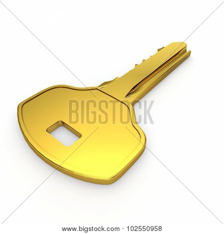 Golden Small Door Key
