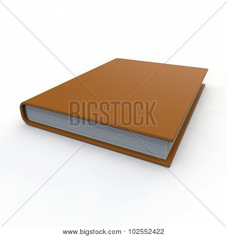 Leather Notebook Orange On A White Background