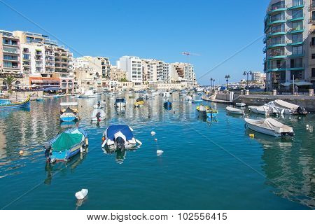 Boats Moored In Spinola Bay