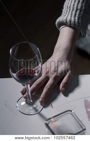 Empty Glass Of Wine