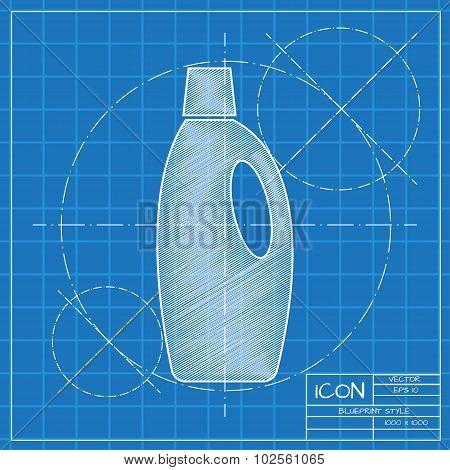 Flat cleaner bottle
