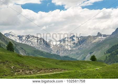 Mountain Landscape In France