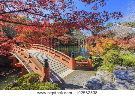 Superb View, Fall Color At Daigoji Temple, Japan In The Autumn